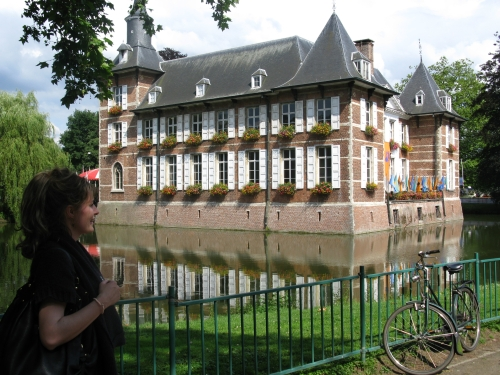 Ester and a house with a moat